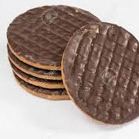 Chocolate coated digestive biscuits