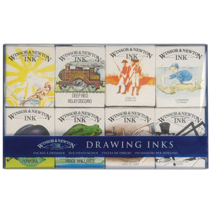 Winsor and Newton Kit of Eight Drawing Inks