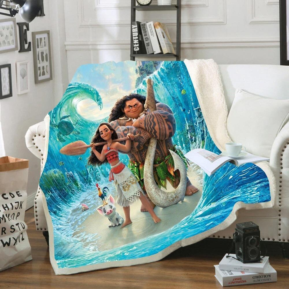 Moana and Maui Sherpa Blanket