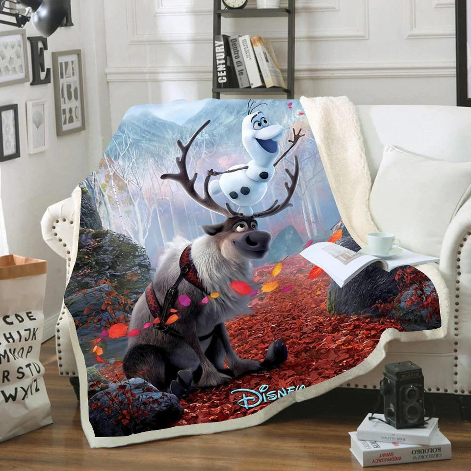 Kristoff and Sven Sherpa Blanket