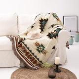 Ethnic Style Geometric Throw Blanket