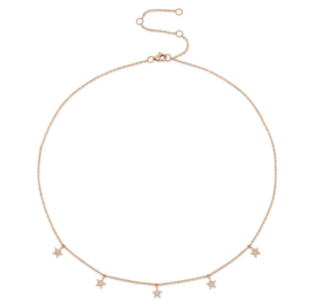 Five Star Pave Necklace