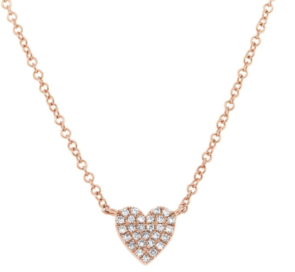 Lil Heart Pave Necklace