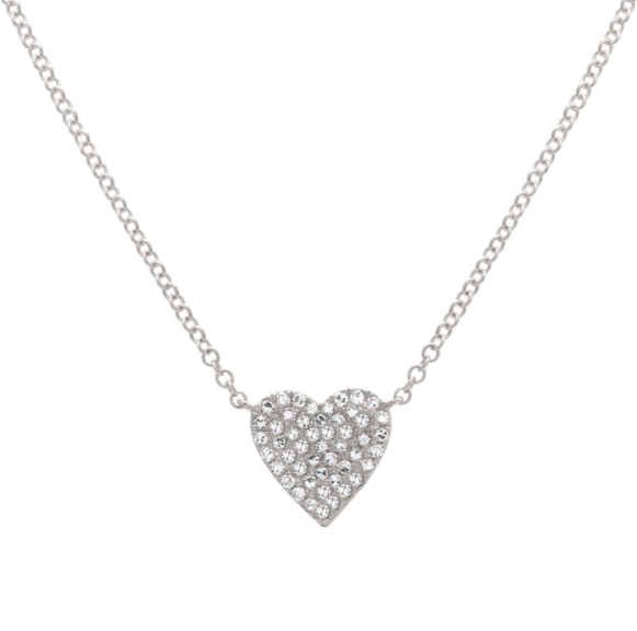 Big Heart Pave Necklace