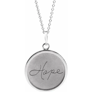 Disc Necklace (Love, Live, Hope)