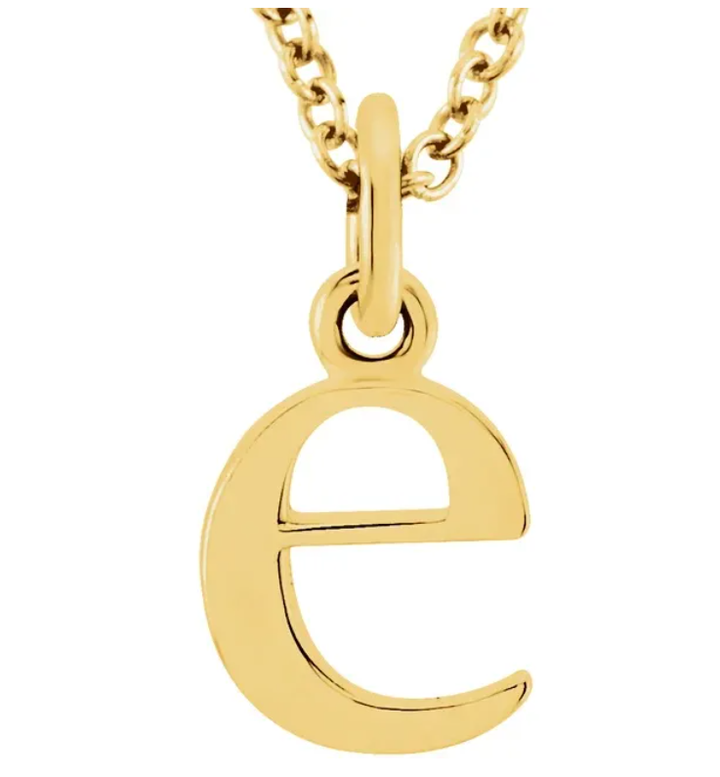 Alphabet Lowercase Letter Necklace