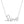 """love"" diamond cursive necklace"
