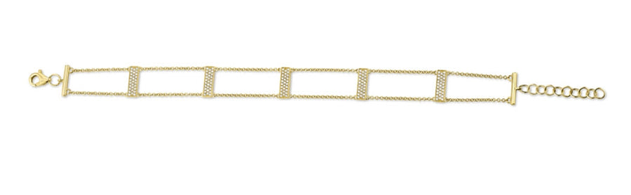 Diamond Pave Ladder Bracelet
