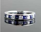 Diamond and Sapphire Channel Set Band