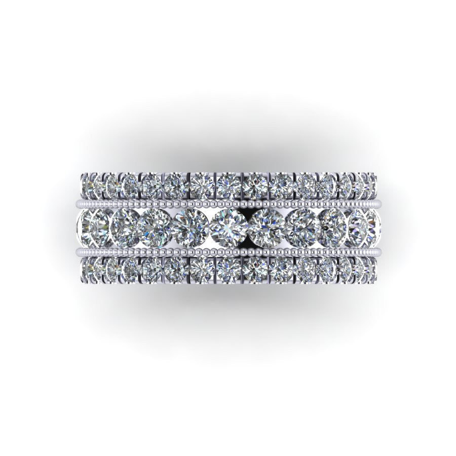 """Cara"" Three Row Diamond Band"