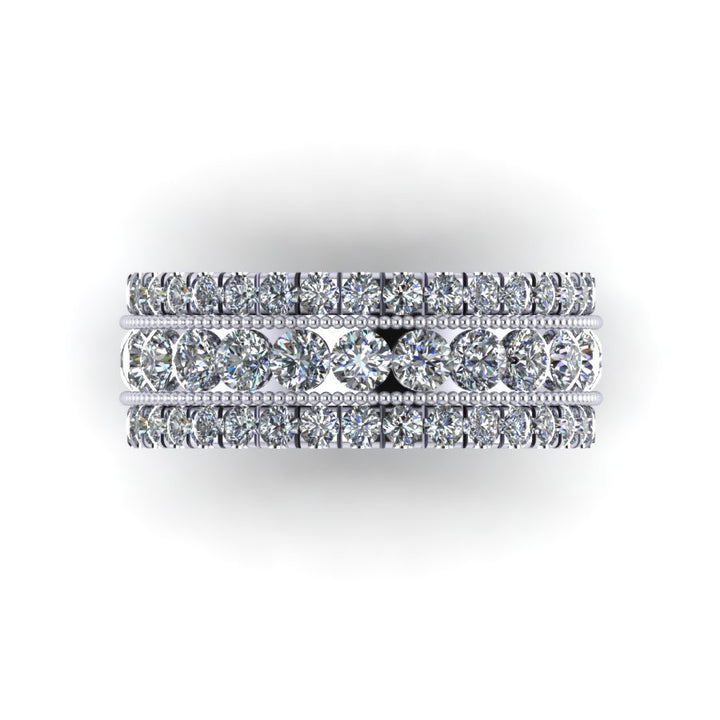 Cara Three Row Diamond Band