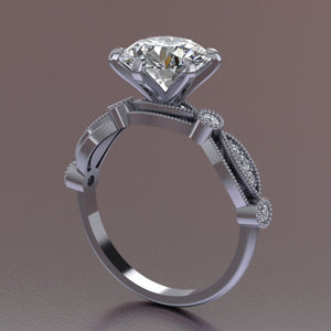 "Vintage ""Gina"" Lace Engagement Ring"