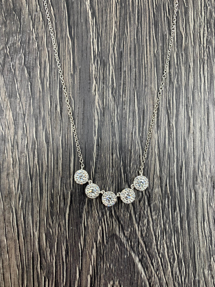 Five Halo Necklace