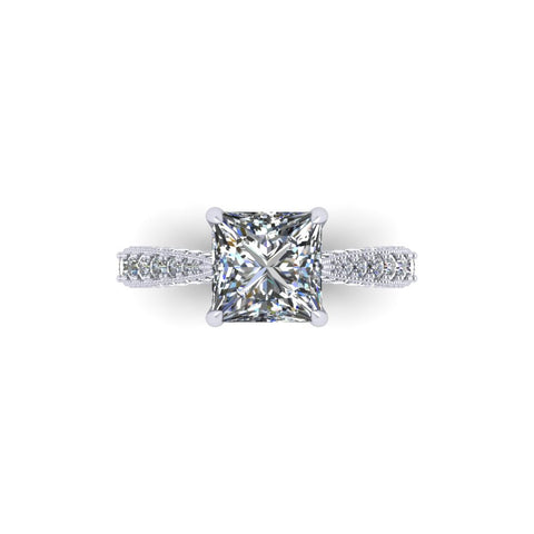 """Caroline"" Vintage Side Diamond Solitaire"