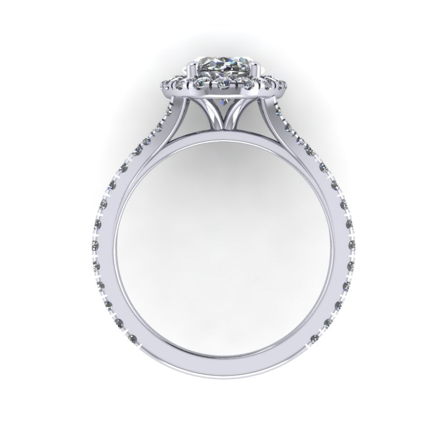 Oval Halo with split shank