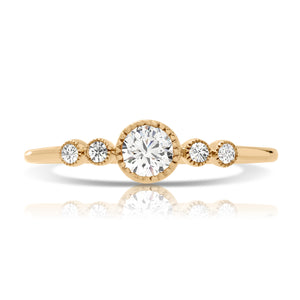 Delta: Round Bezel Engagement Ring