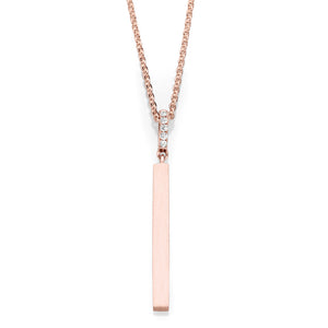 Vertical Drop Bar and Diamond Necklace