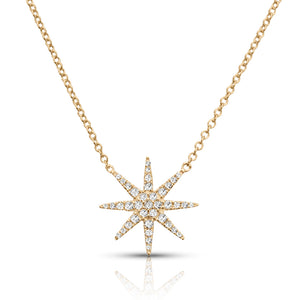 Single 8-Point Star Pave Necklace