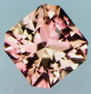 Natural Custom Cut Asscher Peach/Champagne Rose Tourmaline (1.87 ct)