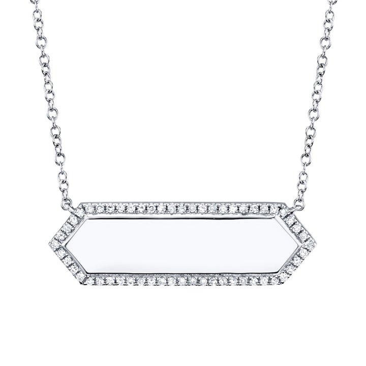 Hexagon Diamond ID Necklace