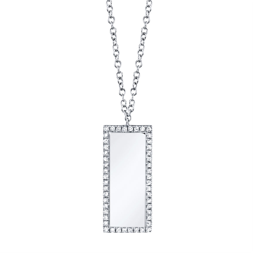 Vertical Diamond ID Necklace