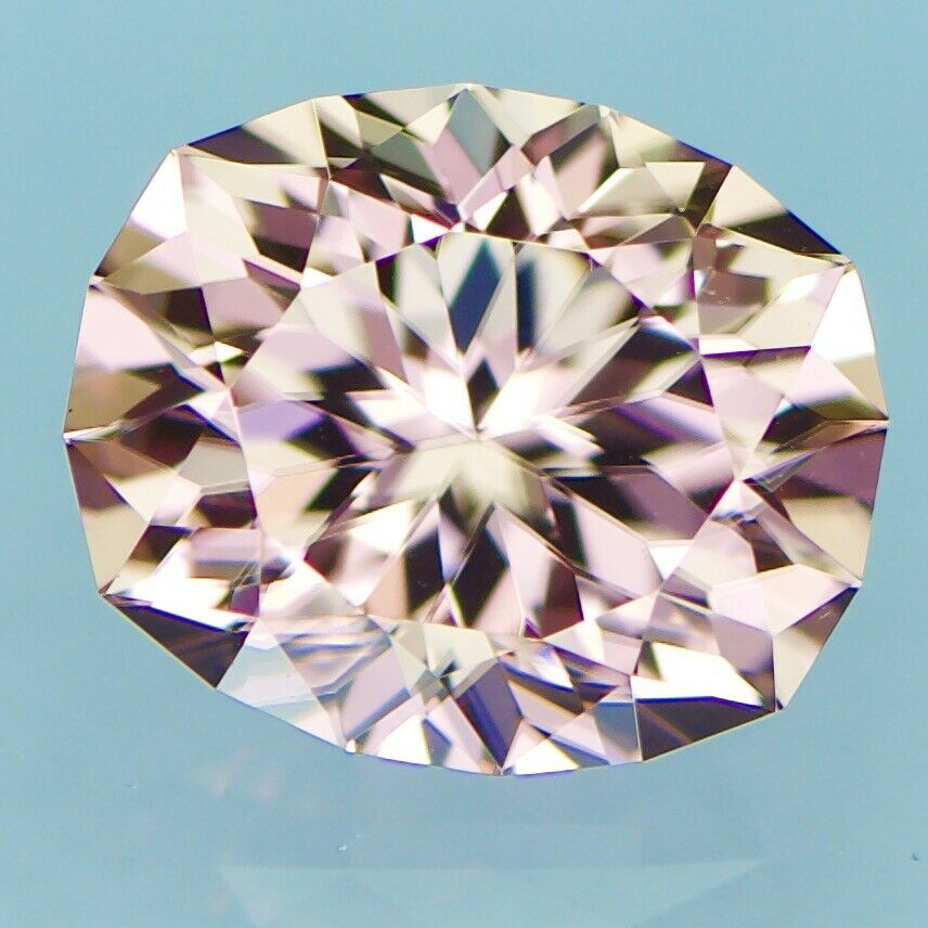 Natural Custom Cut Oval Champagne Peach Zircon (3.77 carats)