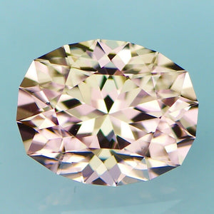 Natural Custom Cut Oval Champagne Peach Zircon (5.29 carats)