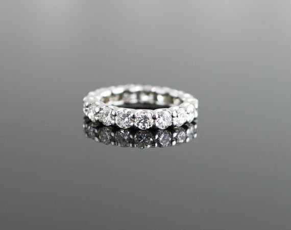 Traditional U Prong Diamond Eternity Wedding Band