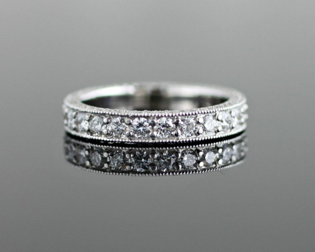 product diamond wedding ring channel round white gold set