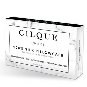 Marble - Lustrous Silk Pillowcase - Queen