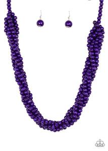 Purple long beads