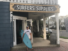 "Load image into Gallery viewer, The ""Surfer Supplies"" South Jersey Tee (Vintage Black)"
