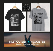 "Load image into Gallery viewer, The ""Inlet Outlet Surf Shop"" North Jersey Tee"