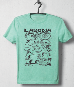 "The ""Laguna Surf & Sport Surf Zone"" Kids Tee Shirt (Aqua)"