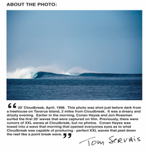 "Load image into Gallery viewer, ""20' Cloudbreak - Tom Servais"" Photo Print"