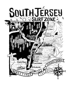 "The ""Surfer Supplies"" South Jersey Tee (Vintage Black)"