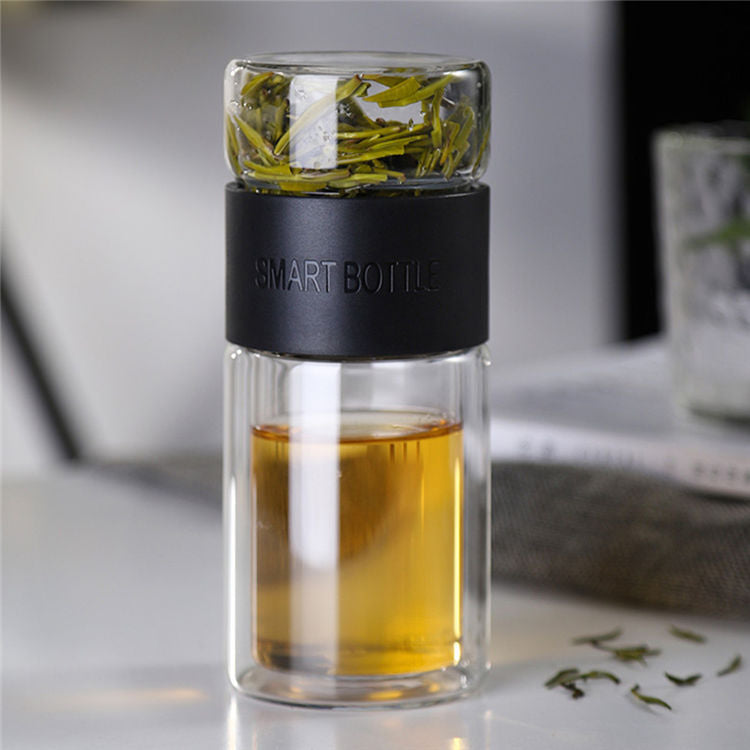 Separated Tea Infuser and Bottle