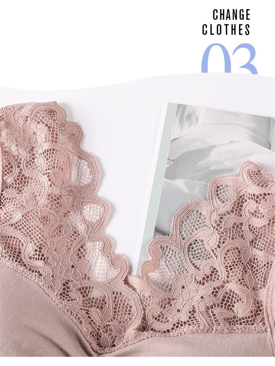 Push Up Comfort Super Elastic Breathable Lace Bra