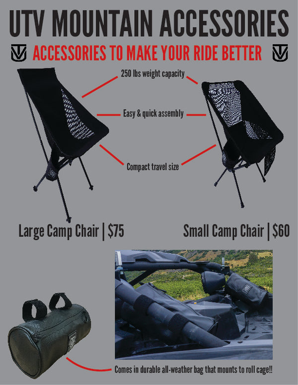 Large Camp Chair with Roll Cage Bag