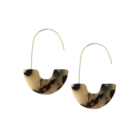 Blonde Spotty Tortoise Isla Hoops