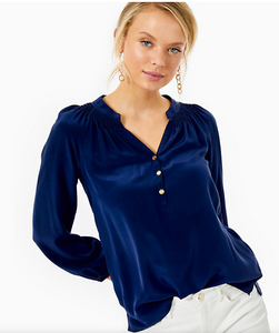 ELSA TOP TRUE NAVY