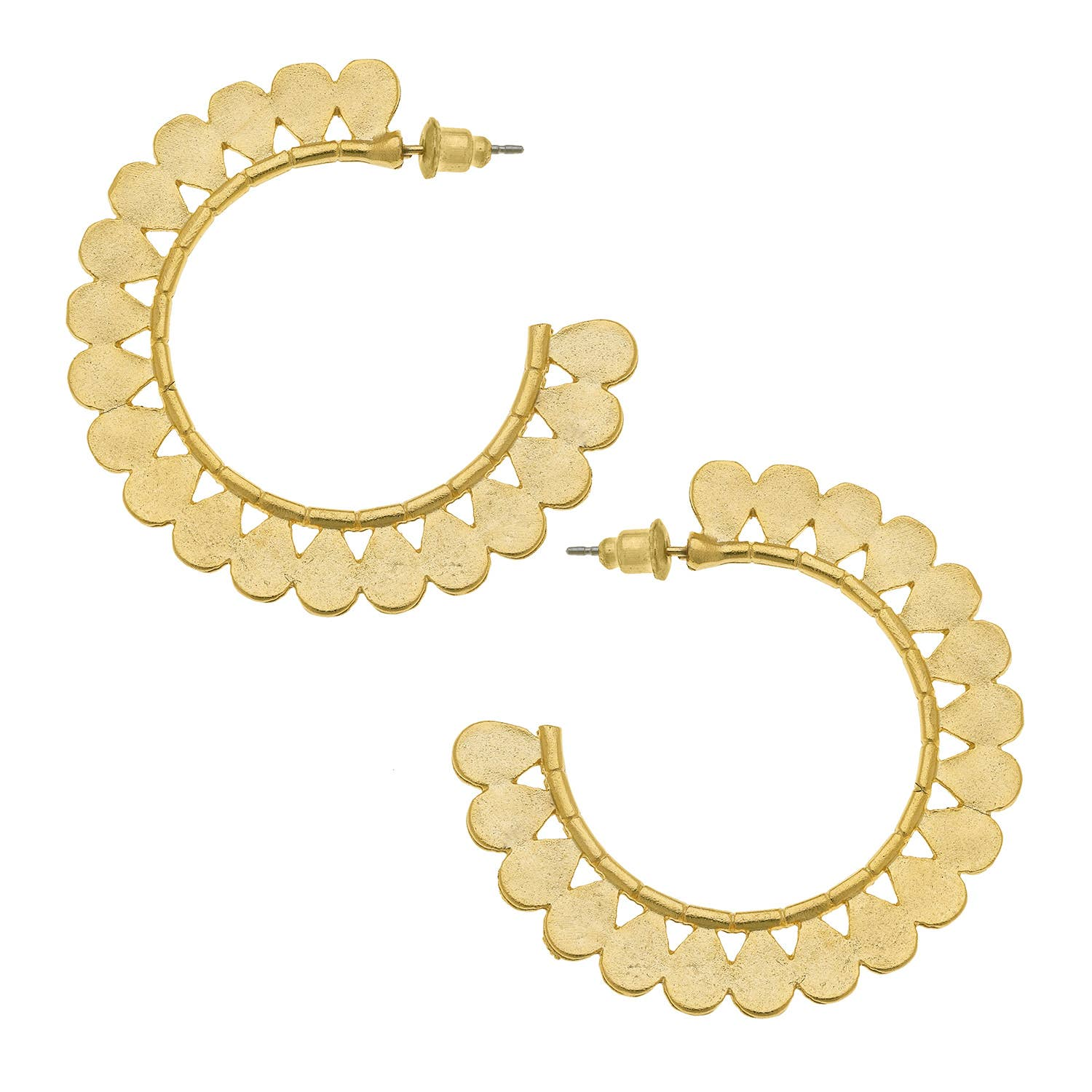 Susan Shaw - Fancy Gold Hoops