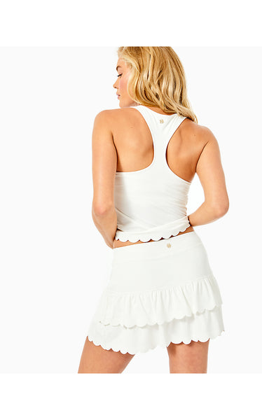 CLARALEE SCALLOP BRA TANK - RESORT WHITE
