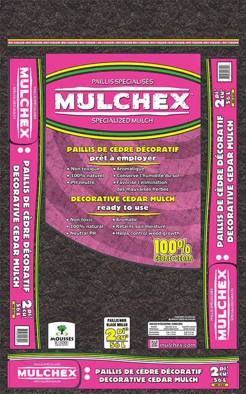 Dyed Red Cedar Mulch, 2 cu ft