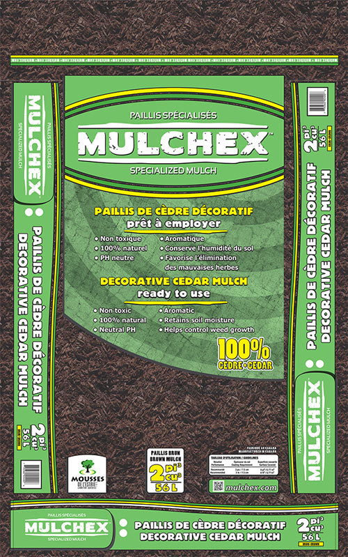 Dyed Black Cedar Mulch, 2 cu ft