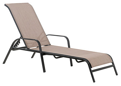 Chaise Lounge, Marbella Sling Chaise, Stackable