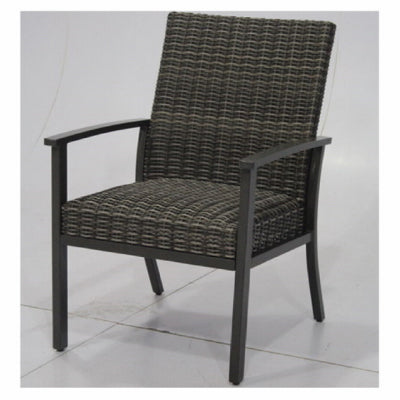 Nantucket Steel Woven Dining Chair, All Weather