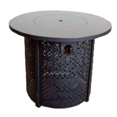 Fire Table, Four Seasons Courtyard Glass Tabletop Black