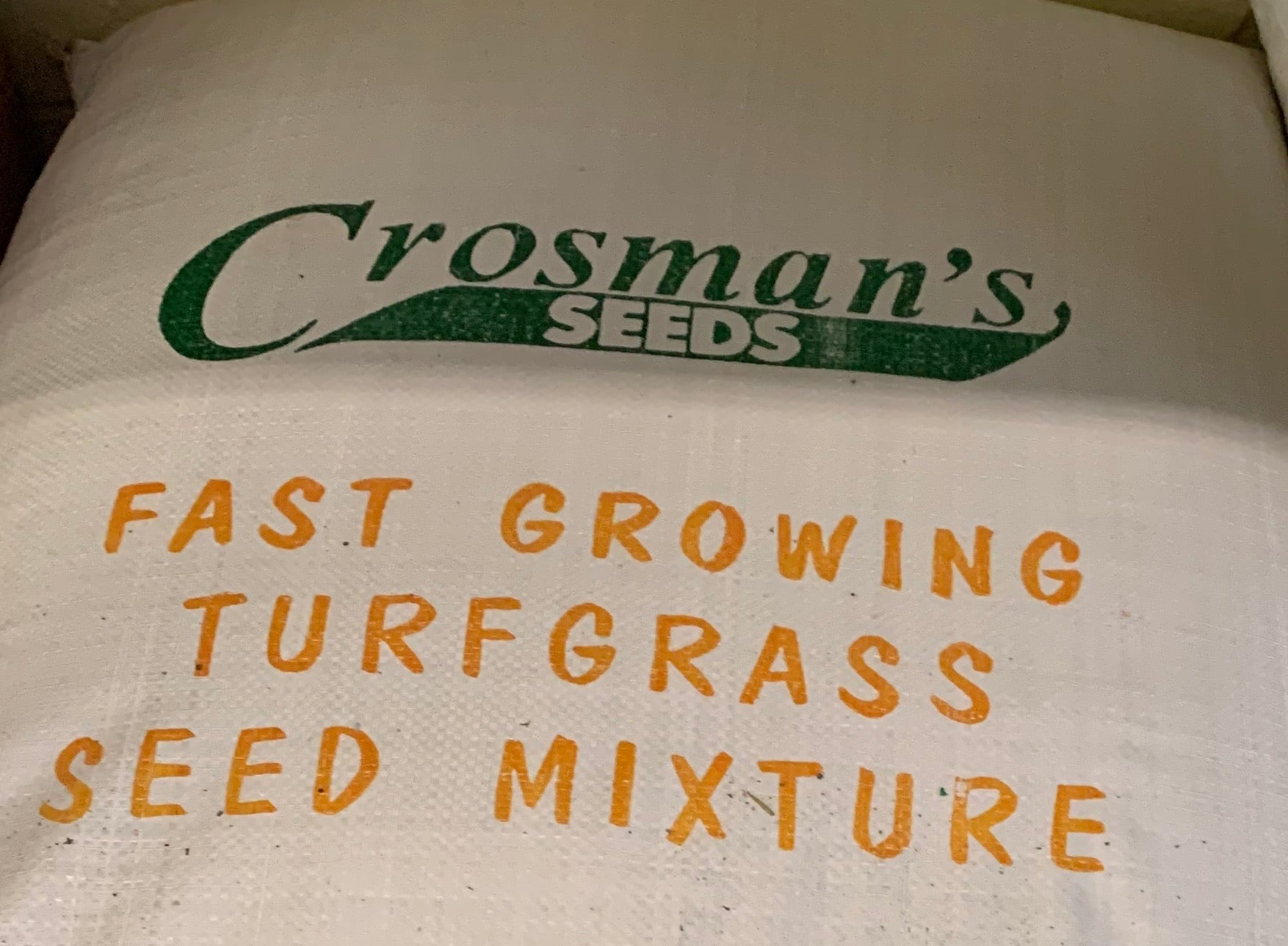 Grass Seed, Crossmans Fast Growing, 3 lbs