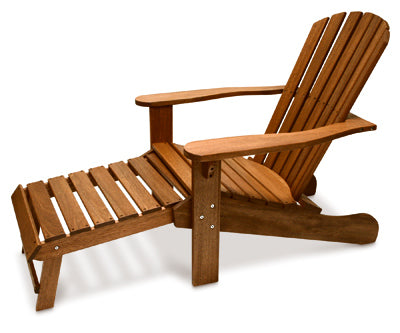 Chair, Adirondack with Built in Ottoman
